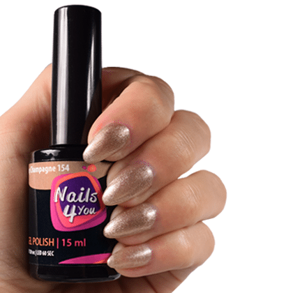 Gellak Shiny Champagne 154 Nails4you