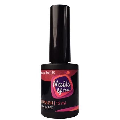 Gel Polish Jamaica Red 135 Nails4you