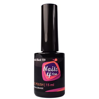 Gel Polish Metallic Black 159 Nails4you