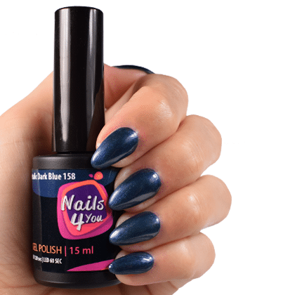 Gellak Metallic Dark Blue 158 Nails4you